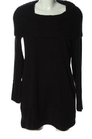 H&M Sweaterjurk zwart casual uitstraling