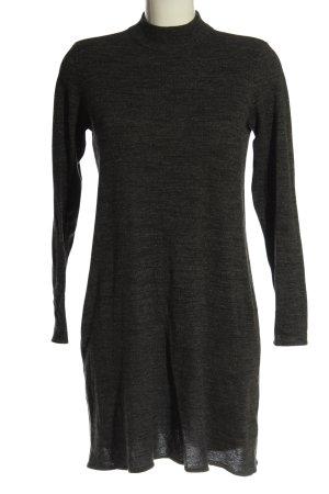 H&M Swetrowa sukienka czarny Melanżowy W stylu casual