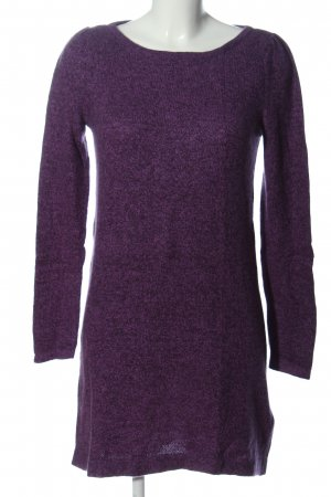 H&M Sweater Dress lilac flecked casual look