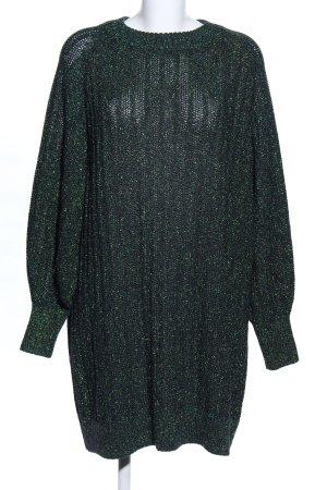 H&M Robe pull vert moucheté style décontracté