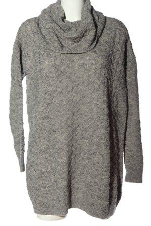 H&M Pulloverkleid hellgrau meliert Casual-Look
