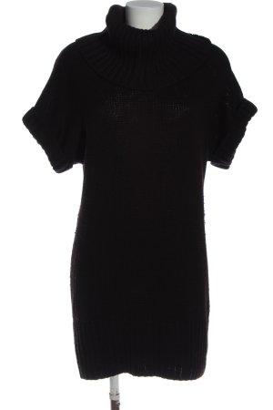 H&M Pulloverkleid schwarz Webmuster Casual-Look