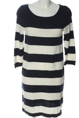 H&M Pulloverkleid schwarz-weiß Allover-Druck Casual-Look