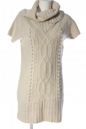 H&M Pulloverkleid creme Zopfmuster Casual-Look