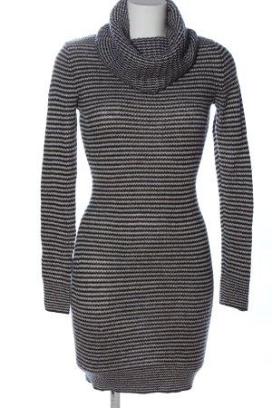 H&M Pulloverkleid schwarz-hellgrau Allover-Druck Casual-Look