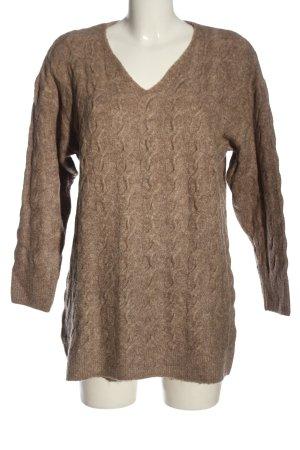 H&M Abito maglione marrone puntinato stile casual