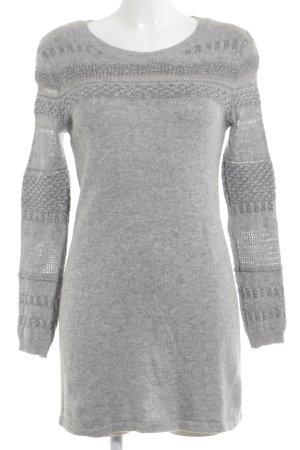 H&M Robe pull gris clair-argenté Mélange de motifs style décontracté
