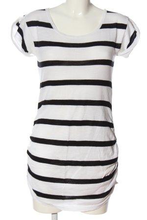 H&M Pulloverkleid weiß-schwarz Allover-Druck Casual-Look
