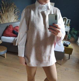H&M Sweter bez rękawów z cienkiej dzianiny beżowy