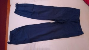 H&M Pantalon large bleu coton