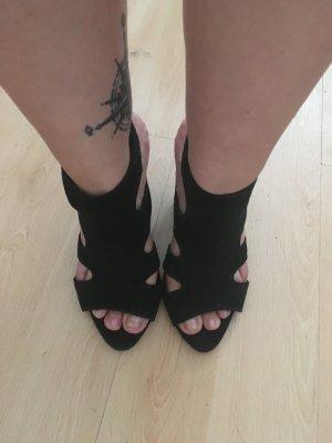 H&M Zapatos de tacón con barra en T negro