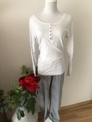 H&M Pyjama white-light grey
