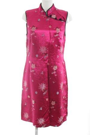 H&M Traditionele Chinese jurk roze bloemenprint elegant