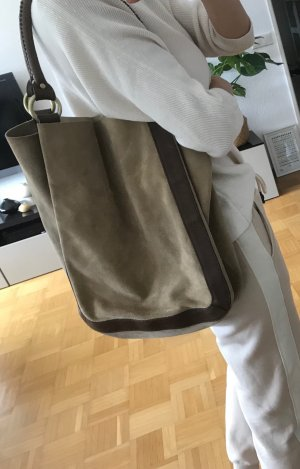 H&M Pouch Bag camel-bronze-colored leather