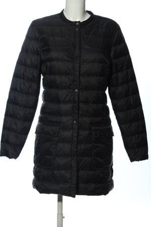 H&M Kurtka przeciwdeszczowa czarny Pikowany wzór W stylu casual
