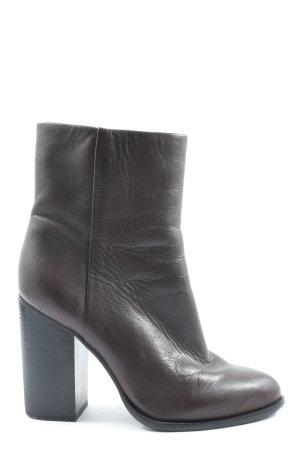 H&M Reißverschluss-Stiefeletten braun Business-Look