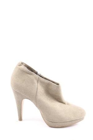 H&M Reißverschluss-Stiefeletten wollweiß Elegant