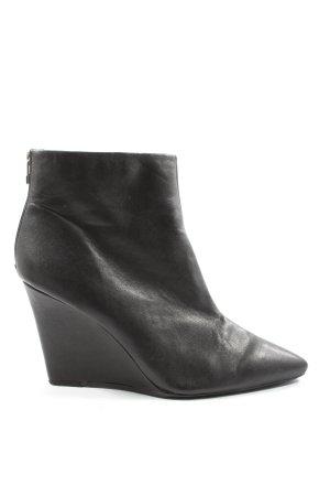 H&M Reißverschluss-Stiefeletten schwarz Elegant