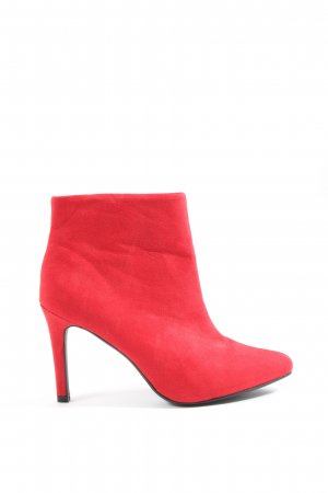 H&M Reißverschluss-Stiefeletten rot Elegant