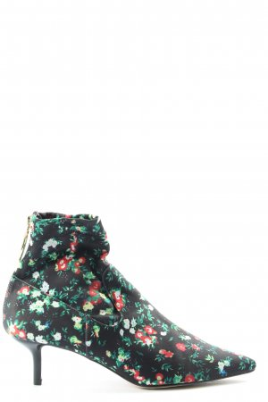 H&M Reißverschluss-Stiefeletten Blumenmuster Casual-Look