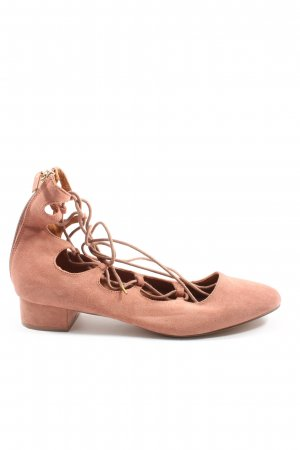 H&M Strappy Ballerinas nude casual look