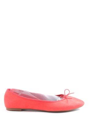 H&M Ballerines à lacets rouge style décontracté