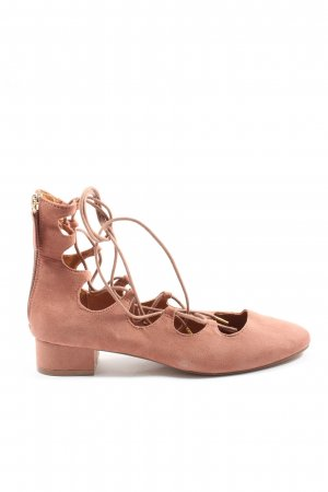 H&M Bailarinas de tira rosa estilo extravagante
