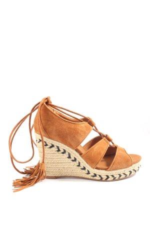 H&M Sandały z rzemykami brązowy W stylu casual