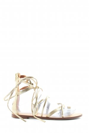 H&M Strapped Sandals gold-colored casual look
