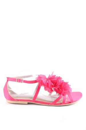 H&M Riemchen-Sandalen pink Casual-Look
