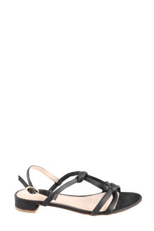 H&M Sandales à lanière noir style décontracté