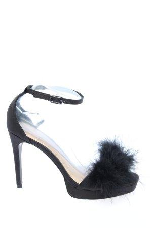 H&M Riemchen-Sandaletten schwarz Elegant