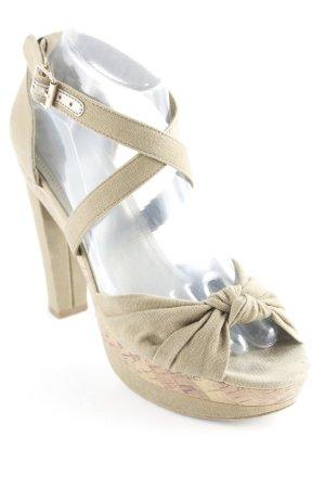 H&M Riemchen-Sandaletten khaki Schleifen-Detail