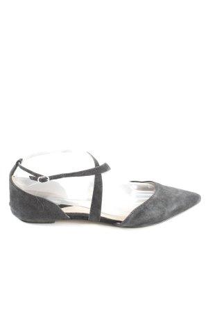 H&M Riemchen-Sandaletten hellgrau Casual-Look