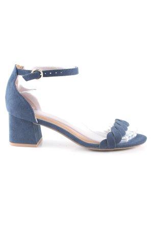H&M Riemchen-Sandaletten blau Casual-Look