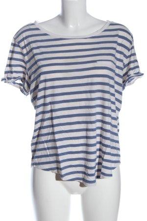 H&M Stripe Shirt white-blue striped pattern casual look