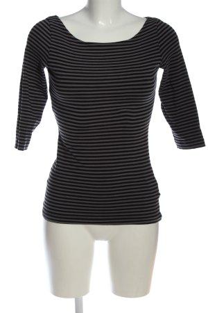 H&M Stripe Shirt light grey-black allover print casual look