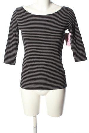 H&M Stripe Shirt black-pink allover print casual look
