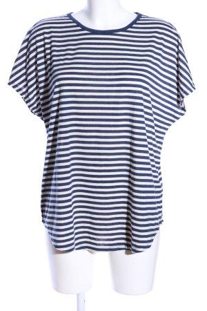 H&M Ringelshirt blau-weiß Streifenmuster Casual-Look