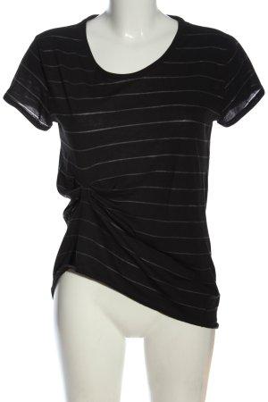 H&M T-shirt rayé noir motif rayé style décontracté