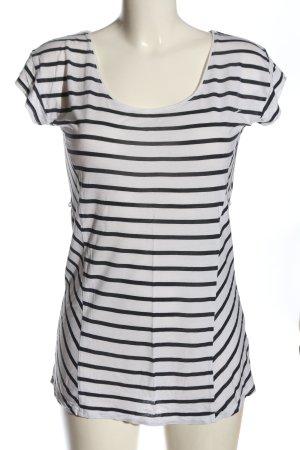 H&M Koszulka w paski biały-czarny Na całej powierzchni W stylu casual