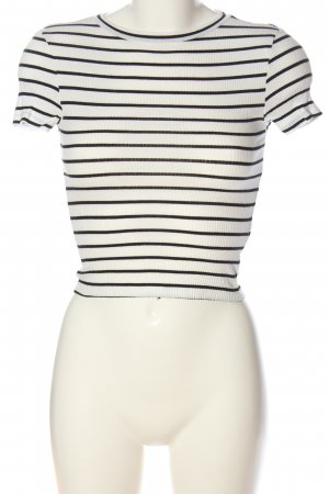 H&M Ringelshirt weiß-schwarz Streifenmuster Casual-Look
