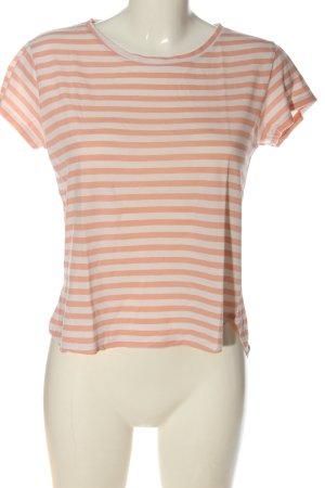 H&M Koszulka w paski różowy-biały Wzór w paski W stylu casual