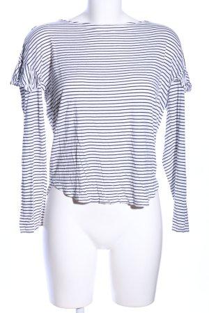 H&M Stripe Shirt white-black striped pattern casual look