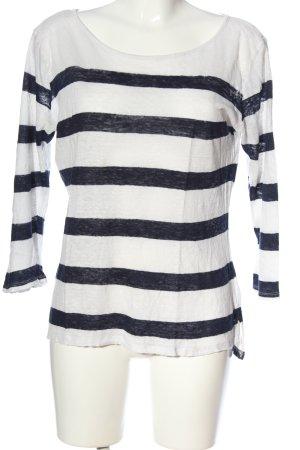 H&M Ringelshirt weiß-schwarz meliert Casual-Look
