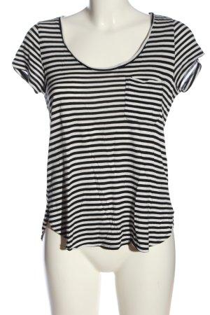 H&M Camisa de rayas blanco-negro estampado repetido sobre toda la superficie
