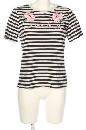 H&M Stripe Shirt flower pattern casual look