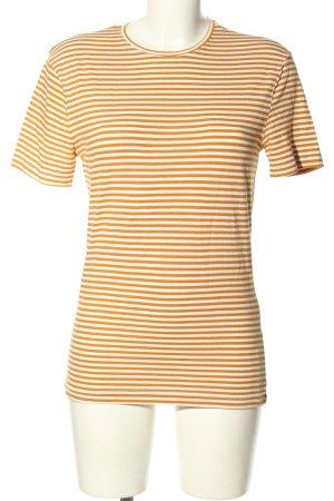 H&M Ringelshirt hellorange-weiß Streifenmuster Casual-Look