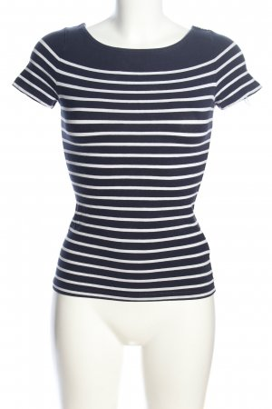 H&M Ringelshirt weiß-blau Allover-Druck Casual-Look