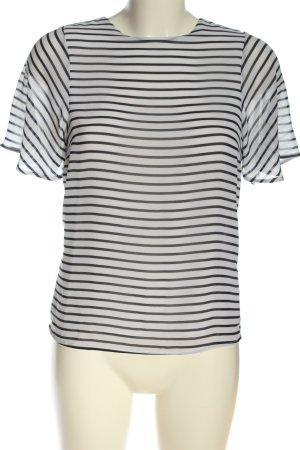 H&M Gestreept shirt wit-zwart gestreept patroon casual uitstraling